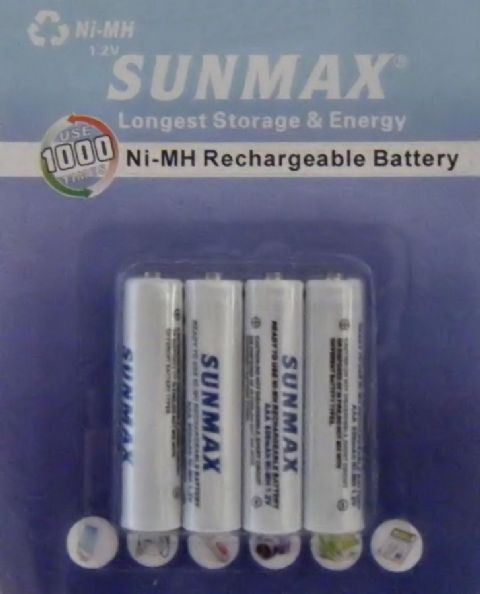 AAA Long Life Rechargeable Ni-MH 1.2v Batteries 850 mAh (Pack of 4)